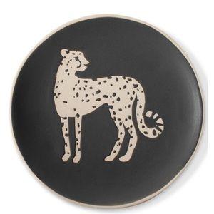 Fringe Studio Cheetah Trinket Dish-Round NIB